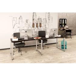Подвійний письмовий стіл Loft design Q-135-2 Венге Корсика