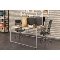 Подвійний письмовий стіл Loft design Q-140 Дуб Борас