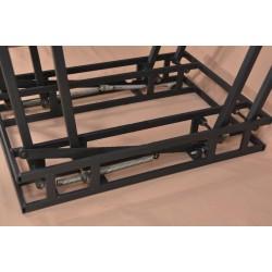 Стол трансформер со стеклянной столешницей Дельта венге с узором