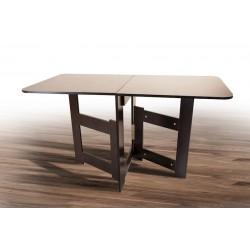 Раскладной стол-трансформер Книжка 700/1680х300/700 тёмный орех